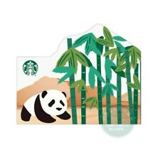2020 China Starbucks Bamboo Forest Panda Used Gift Card / Empty Card