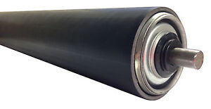 PR5010AX1-BS54  (55dia) Rubber Sleeved Conveyor Roller, Spring Loaded