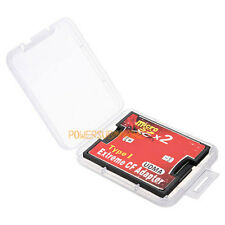 NEW 2 Port Slot micro SD TF SDHC to type I Compact Flash Card CF Reader Adapter