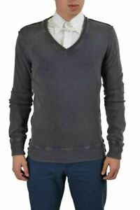 Dolce & Gabbana Men's Faded Gray Wool Cashmere V-Neck Sweater US XS IT 46