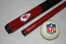 NFL Kansas City Chiefs Billiard Pool Cue Stick with NFL Logo Cue Ball FREE SHIP