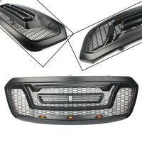 ABS Black Grille Honeycomb Bumper Grill Mesh Rebel Style For Ram 1500 2013-2018