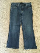 Talbots petite Womens size 4P denim blue Jeans with stretch boot cut