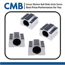 4pcs SC12UU SCS12UU Linear Motion Ball Bearing Slide Unites Bushing ID 12mm New