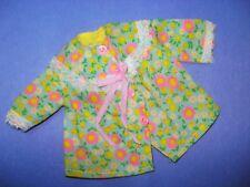 V 00004000 tg Barbie 70s Doll Clothes Mod Floral Cotton Pajama Top No Label