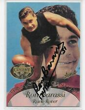 HALL OF FAME TEAM OF THE CENTURY CARD HAND SIGNED BY RON BARASSI  / MINT