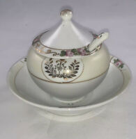 Vintage Early Nippon Hand painted condiment Jam/mustered/Relish Dish Rare