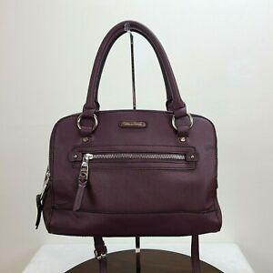 Dana Buchman Cross Body Handbag Purse Purple Pockets Zip Adjustable Strap