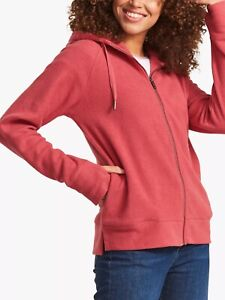 Lovely women's And Ladies FatFace Paige Zip Hoodie, Berry size L RRP £45.99