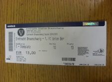 13/12/2014 Ticket: Eintract Braunschweig v Union Berlin.  Any faults with this i