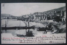 Turkey Halki Constantinople early 1900s postcard view of port, buildings, boats