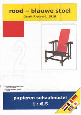 Paper Model Red and blue chair, Rietveld