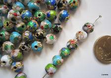 Perlas bola cloisonné 8 mm X 20 UNIDADES esmalte colores abalorios fornituras