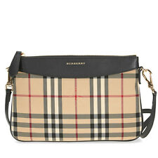 e3c0d249ba43 Burberry Horseferry Check Clutch Bag (beige Black Prints Calfskin Leather)
