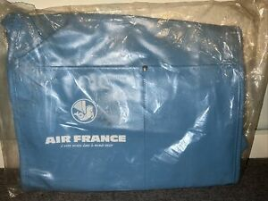 Air France Carry On Bag Gray Tote Travel Bag Vintage Blue - New Old Stock *READ*