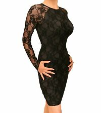 Blue Banana - New Sexy Black Lace Stretchy Dress