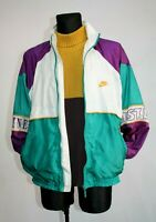 NIKE OLD RETRO 80s VINTAGE TRACKSUIT TOP CASUAL FITNESS TRAINING JACKET SIZE L