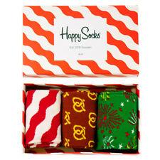 Happy Socks Christmas Holiday 3 Pack pour Femme Nouveauté Chaussettes Boîte Cadeau 3.5 - 6.5