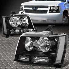 For 07 14 Chevy Tahoe Suburban Black Housing Clear Corner Headlight Head Lamps Fits 2007 Chevrolet Suburban 1500