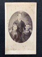 Victorian Carte De Visite CDV: Shearman & Son: Oval Group Young Gents: 1 of 2