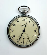 Unique old Molnija USSR pocket watch mechanical movement Good conditions