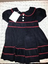 NWT Bella Bliss Navy Corduroy And Red With Collar Dress Size 24 Month
