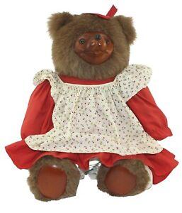 "Robert Raikes Rebecca Wooden Face Teddy Bear 22"" #4132/7500 Free Shipping"