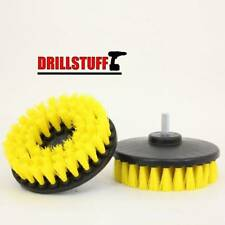 2 Pcs 5 inch drill brush for Car Carpet wall and Tile cleaning MEDIUM DUTY