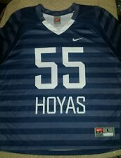 Mens large Georgetown Hoyas #55 Nike black grey and white Jersey