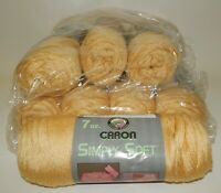 8 Skeins NOS Caron Simply Soft Yarn - Buttercup Soft Butter Color