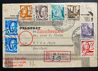 1948 Wangen Germany Allied occupation Registered Cover To Kirn