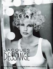 ▬► PUBLICITE ADVERTISING AD Jacques DESSANGE promotion Photo J. L. Mansson 1992