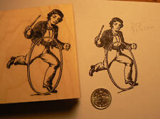 "Vintage school boy rubber stamp, WM 2x2.4"" P15"