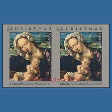 4815b Virgin and Child Gossaert Christmas 2013 Imperf Pair No Die Cuts