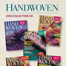 5 Issues on CD: HANDWOVEN MAGAZINE 2010 Waffle Weave Fabric Warp Velvet Cashmere