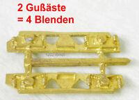 MBT Spur 0, 4 Drehgestellblenden für Achsstand 34mm,MS-Feinguß,unlackiert