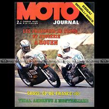 MOTO JOURNAL N°113 BENELLI 650 S HARLEY-DAVIDSON RENZO PASOLINI GP FRANCE 1973
