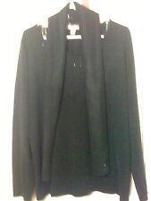 New White Stag long sleeve acrylic top XL 16-18 black sparkle sweater with scarf