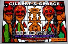Gilbert and George - The Beard Pictures SIGNED 2017 ART EXHIBITION POSTER #5