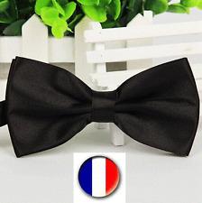 Noeud Papillon Pour Homme - Satin Noir - Double Couche-100 % Polyester-12 x 6 cm