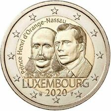 LUXEMBURGO 2 EUROS 2020 - CONM. P. HENRI d´ORANGE-NASSAU- S/C - DISPONIBLE