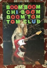 Tom Tom Club Boom Boom rare original promotional poster Talking Heads