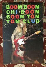 TOM TOM CLUB  Boom Boom  rare original promotional poster  TALKING HEADS