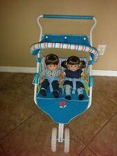 American Girl Bitty Baby Girl & Boy Twin Dolls W/Stroller