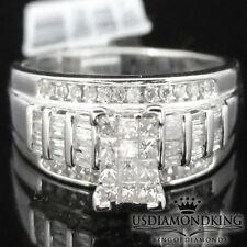 Ladies 10K White Gold Genuine .50Ct. S1-H Quality Diamonds Engagement Ring Band