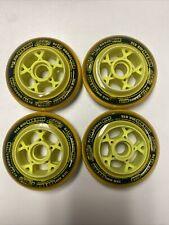 4-Pack Rink Rat Mb816 Micro Bearing Roller Hockey Wheel - 76mm Dark Green