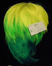 NEW Forum Tri Tone Lime Green Pixie Fairy Costume Wig, Spike It,Punk,St Pat