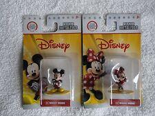 NANO METALFIGS Disney Mickie and Minnie Mouse Set by Jada Toys,100% Diecast, New