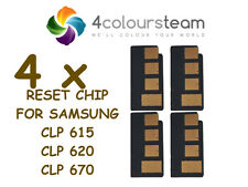 4x TONER RESET CHIP FOR SAMSUNG  CLP 615 620 ND 670 CLX 6220 6225 6250