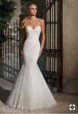 Mori Lee 2713 Mermaid Ivory Wedding Dress Size 10
